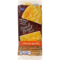 Kroger Microwave in Minutes! Cheesy Garlic French Bread Pizza Food Product Image