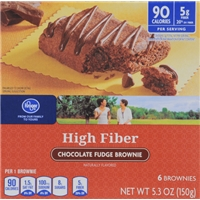 Kroger Chocolate Fudge High Fiber Brownies Food Product Image