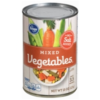 Kroger Mixed Vegetables - No Salt Added Food Product Image