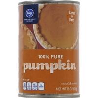 Kroger 100% Pure Pumpkin Food Product Image