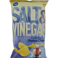 Kroger Salt & Vinegar Potato Chips Food Product Image