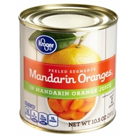 Kroger Mandarin Oranges in Mandarin Orange Juice Food Product Image