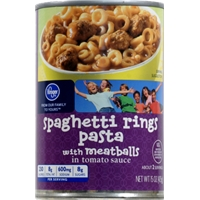 Kroger Spaghetti Rings Pasta with Meatballs Food Product Image