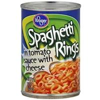 Kroger Spaghetti Rings In Tomato Sauce With Cheese Food Product Image
