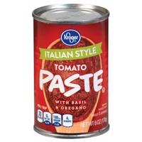 Kroger Italian Style Tomato Paste Food Product Image