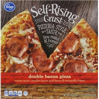 Kroger Self-Rising Double Bacon Frozen Pizza Food Product Image
