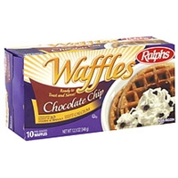 Ralphs Waffles Pre-Baked, Chocolate Chip Food Product Image