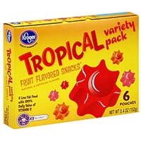 Kroger Fruit Flavored Snacks Tropical Variety Pack Food Product Image