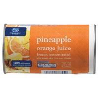 Kroger Frozen Pineapple Orange Juice Food Product Image