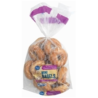 Kroger Cinnamon Raisin Swirl Mini Bagels Food Product Image