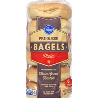 Kroger Plain Bagels Food Product Image