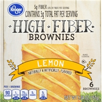 Kroger High Fiber Brownies - Lemon Food Product Image