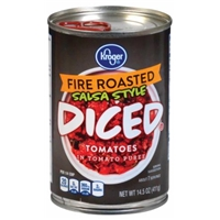 Kroger Salsa Style Fire Roasted Diced Tomatoes Food Product Image