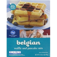 Kroger Belgian Waffle & Pancake Mix Food Product Image