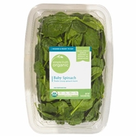 Simple Truth Organic Baby Spinach Food Product Image