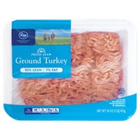 Kroger Ground Turkey 93% Lean Food Product Image