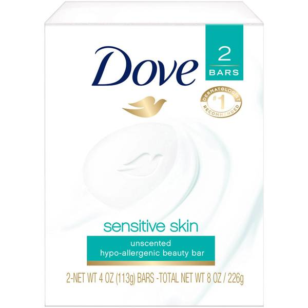 Dove Beauty Bar Sensitive Skin - 2 CT Food Product Image