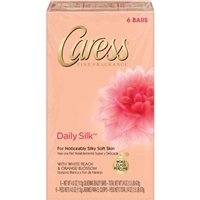 Caress Daily Silk Beauty Bar White Peach & Silky Orange Blossom - 6 CT Food Product Image