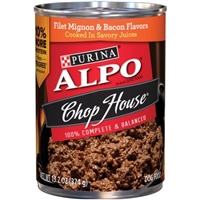 Purina Alpo Chop House Dog Food Filet Mignon & Bacon Food Product Image