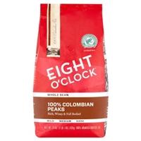 Eight O'clock Colombian Whole Bean 100% Arabica Coffee Food Product Image