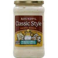Roundy's Classic Style Pasta Sauce - Roasted Garlic Alfredo Sauce Food Product Image