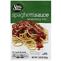Shurfine Seasoning Mix Spaghetti Sauce Food Product Image