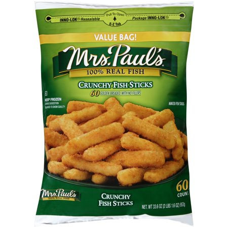 Mrs. Paul's 100% Real Fish Crunchy Fish Sticks - 60 CT Food Product Image