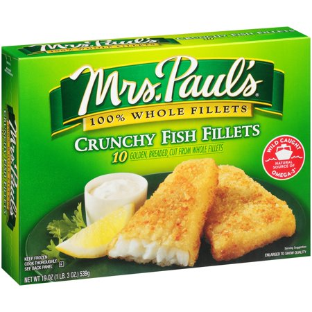Mrs. Paul's 100% Whole Fillets Fish Fillets Crunchy - 10 CT Food Product Image