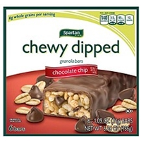 Spartan Granola Bars Chocolate Chip, Chewy Dipped Food Product Image