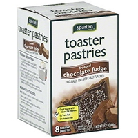 Spartan Toaster Pastries Frosted, Chocolate Fudge Food Product Image