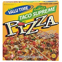 Valu Time Pizza Taco Supreme Mexican Style W/Tortilla Style Crust Food Product Image