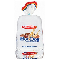 Valu Time Buns Hotdog 12 Ct Food Product Image