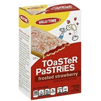 Valu Time Toaster Pastries Frosted Strawberry Product Image
