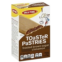 Valu Time Toaster Pastries Frosted Brown Sugar Cinnamon Food Product Image