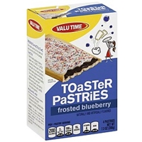 Valu Time Toaster Pastries Frosted Blueberry Food Product Image