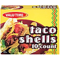 Valu Time Taco Shells 10 Ct Food Product Image