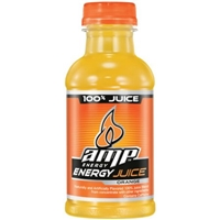 AMP Energy Orange Juice Drink, 12 oz Food Product Image