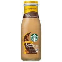 Starbucks Almondmilk Frappuccino, Mocha - 13.7 fl oz Glass Bottle Food Product Image