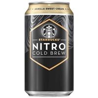 Starbucks Nitro Cold Brew Vanilla Sweet Cream Premium Coffee Drink - 9.6 fl oz Bottle Food Product Image