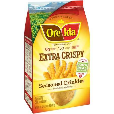 Ore-Ida Seasoned Crinkles Extra Crispy Food Product Image