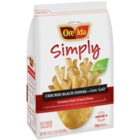 Ore-Ida Simply Country Style French Fries Cracked Black Pepper and Sea Salt Food Product Image