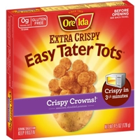 Ore-Ida Extra Crispy Easy Tater Tots Crispy Crowns Food Product Image