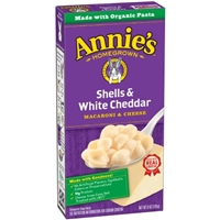 Annie's Homegrown Shells & White Cheddar Macaroni & Cheese Food Product Image