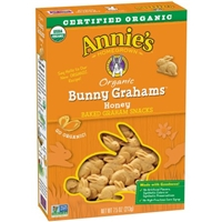 Annie's Homegrown Bunny Grahams Honey All-Natural Whole Grain Grahams Snacks Food Product Image