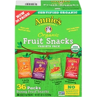 Annie's Homegrown Fruit Snacks Organic Fruit Snacks Variety Pack 36 Ct Club Pack Food Product Image