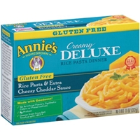 Annie's Creamy Deluxe Gluten Free Rice Pasta & Extra Cheesy Cheddar Sauce Food Product Image