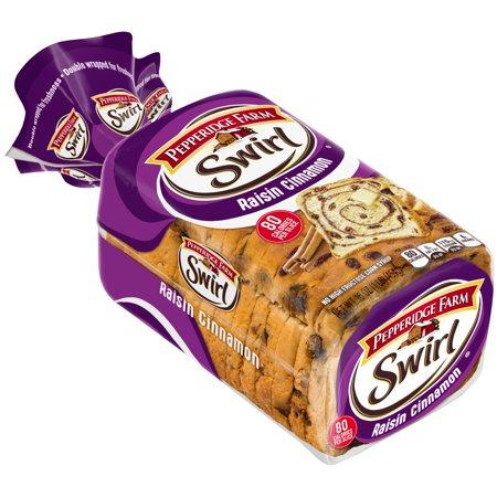 Pepperidge Farm Swirl Raisin Cinnamon Bread Food Product Image