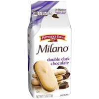 Pepperidge Farm Milano Double Chocolate Distinctive Cookies Food Product Image