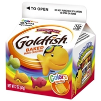 Pepperidge Farm Goldfish Colors Baked Snack Crackers Cheddar Food Product Image