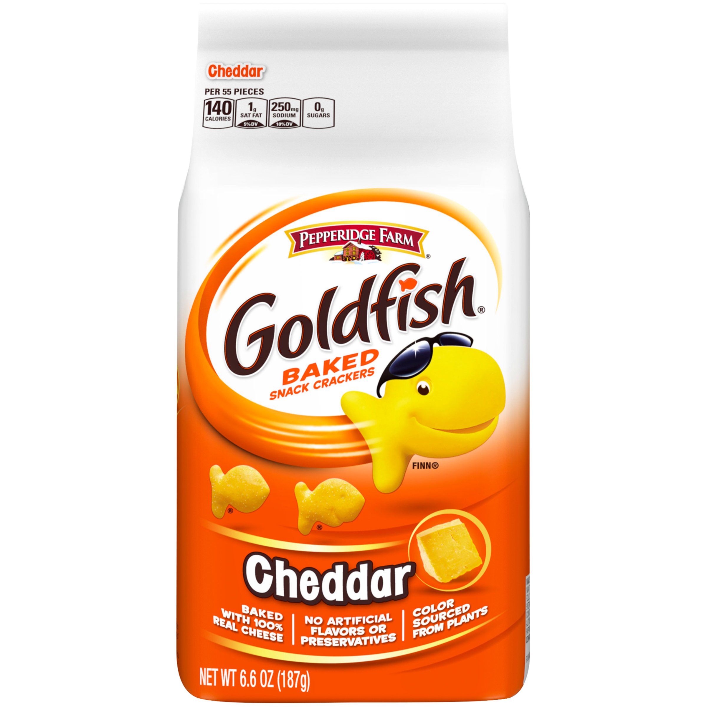 Pepperidge Farm Goldfish Baked Cheddar Snack Crackers Food Product Image